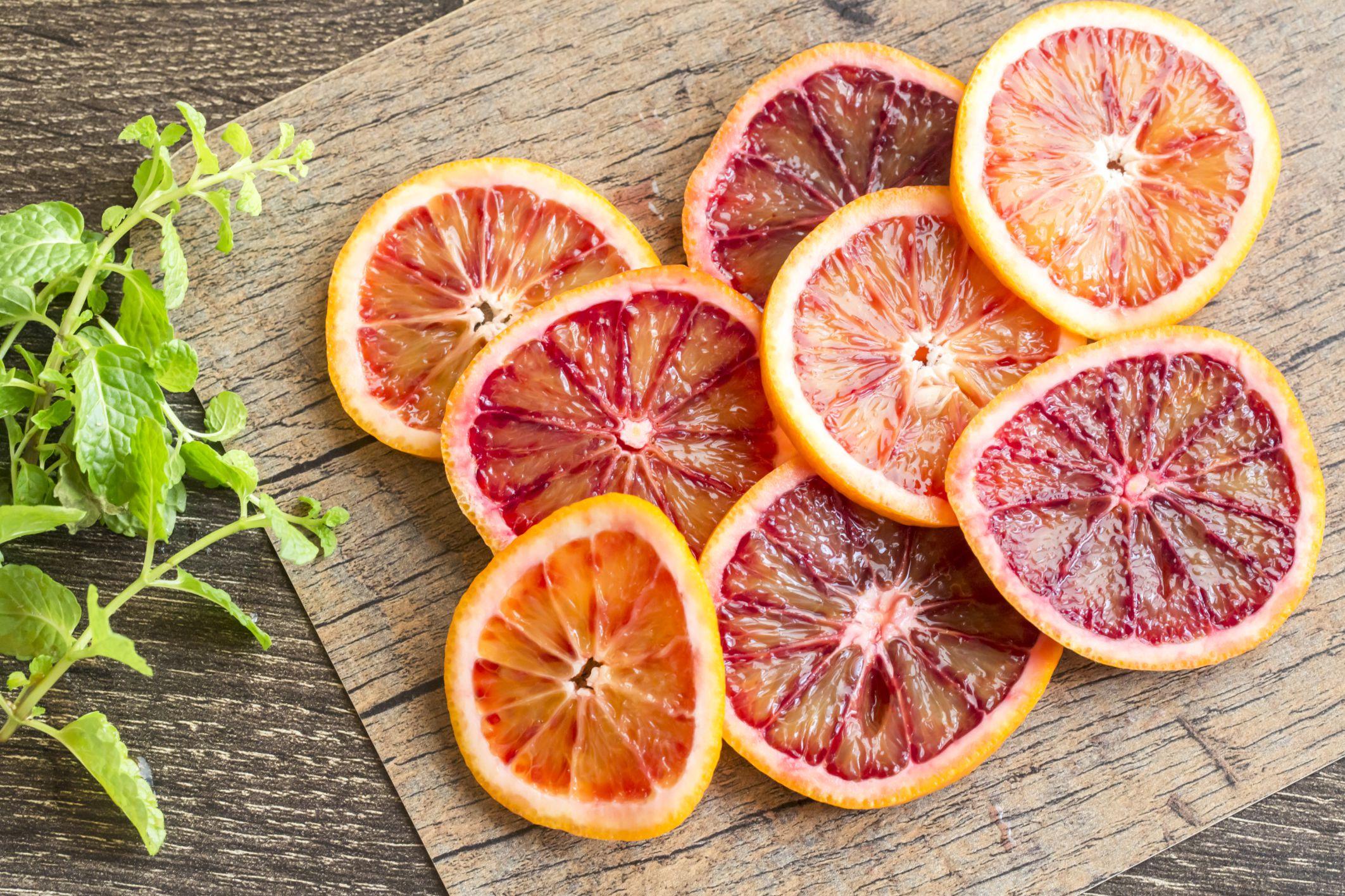 Different Blood Orange Slices