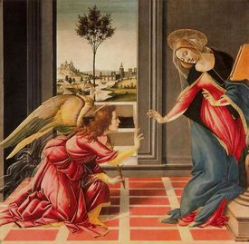 La Anunciación de Sandro Botticelli
