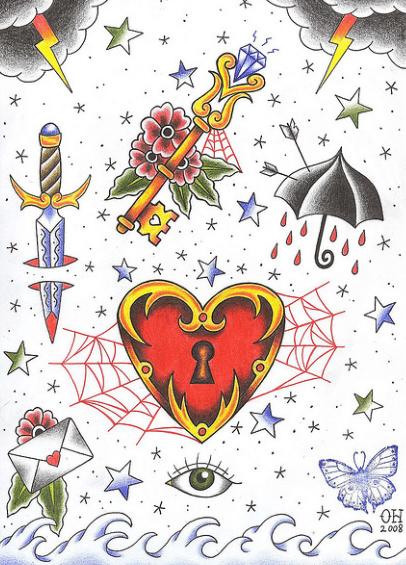 Los Diseños Más Tatuados Corazones Estrellas Calaveras Y Flores