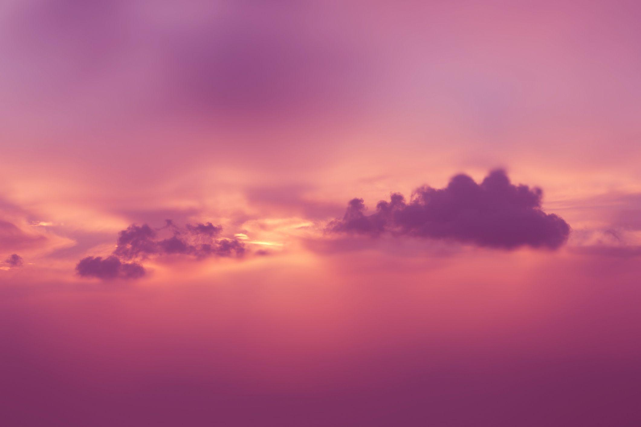 Orange and magenta clouds