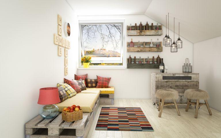 Rústico y acogedor diseño Interior