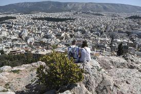 Pareja en Atenas
