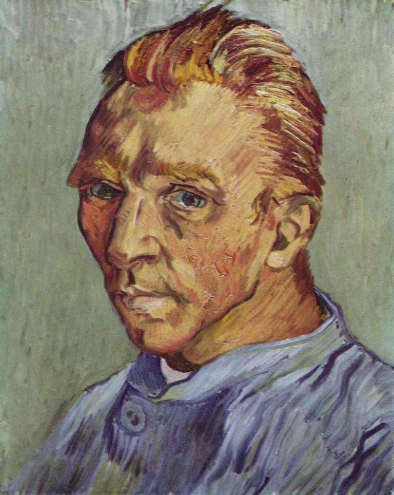 Vincent van Gogh Autorretrato sin barba