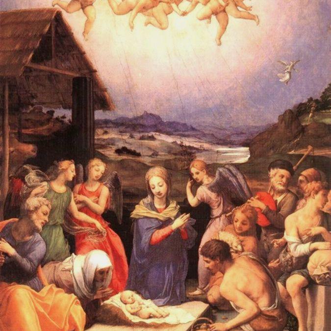 La Natividad de Jesús por Il Bronzino