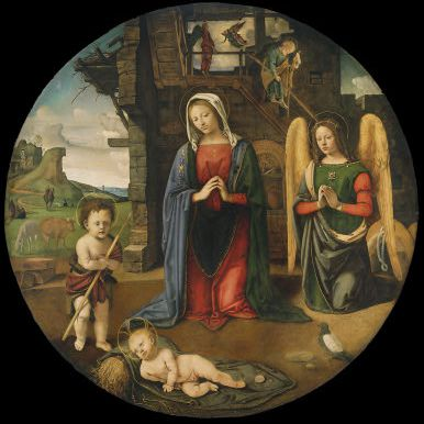 La Natividad con el infante San Juan de Piero di Cosimo