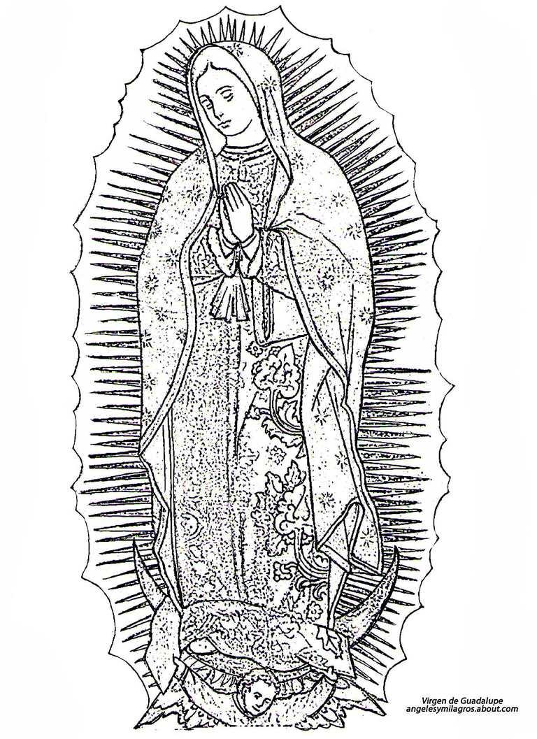 La Virgen María Para Colorear