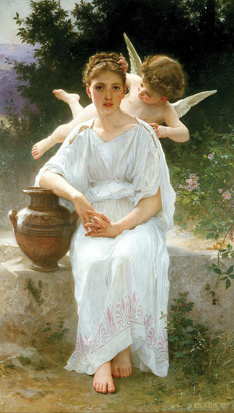 Angelitos de William-Adolphe Bouguereau