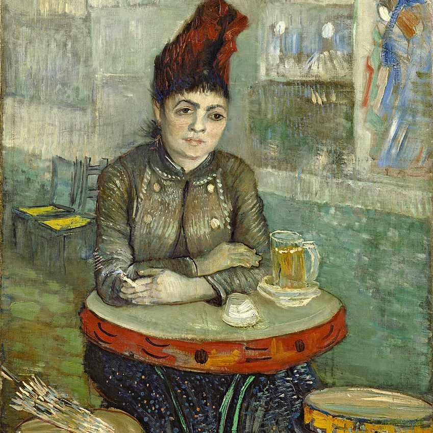 Vincent van Gogh, mujer cafe