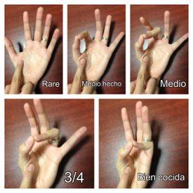La suavidad de un corte se siente igual a músculo músculo en la base de tu dedo pulgar