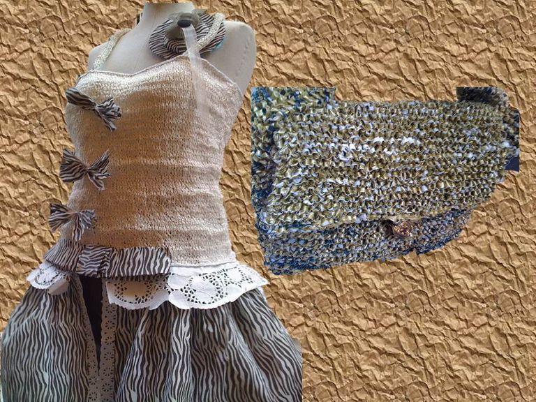 7 ideas de vestidos con materiales reciclados