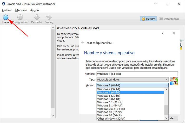Instalar Windows VirtualBox