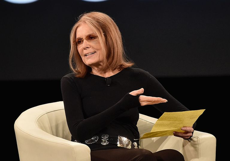 La feminista estadounidense Gloria Steinem.
