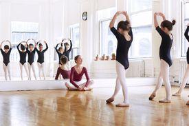 Una clase de ballet