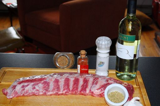 Ingredientes para marinar un costillar de cerdo