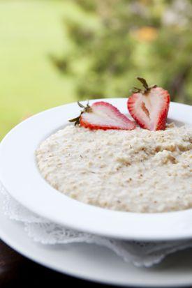 avena, oatmeal, desayuno, plato