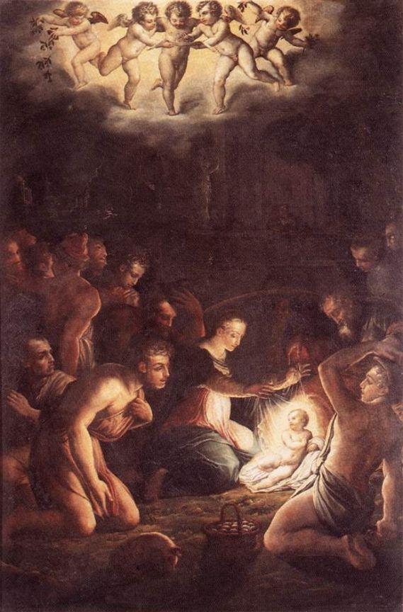 La Natividad de Giorgio Vasari