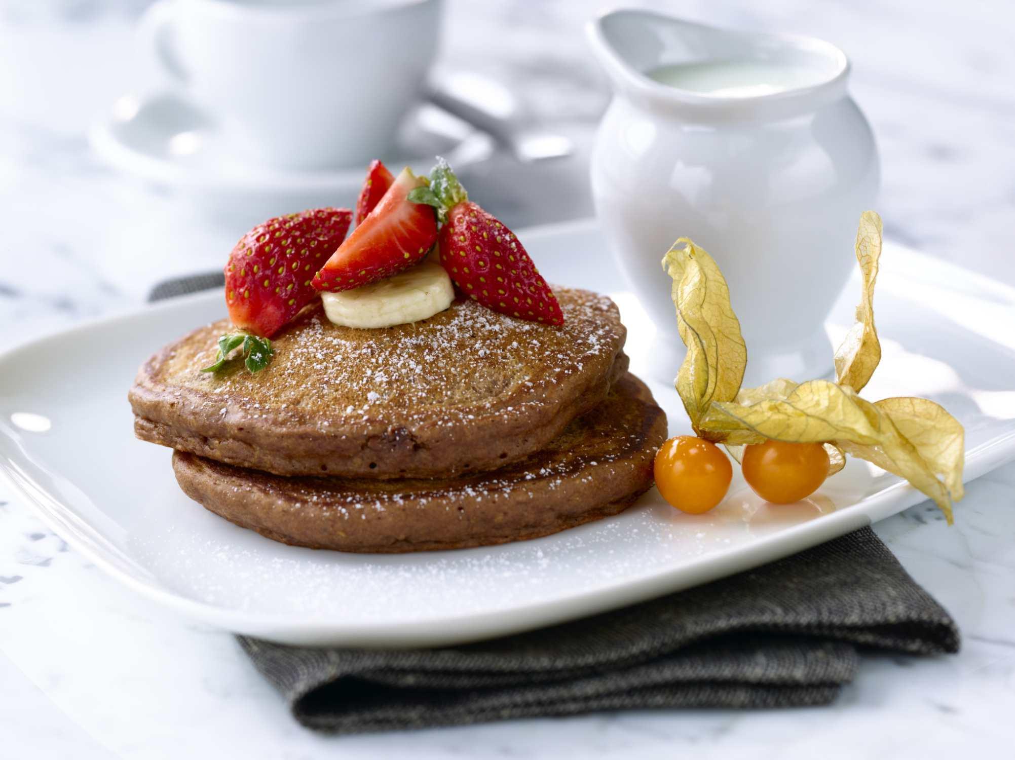 panqueques integrales, el desayuno, desayuno saludable, desayuno nutritivo, comida sana,