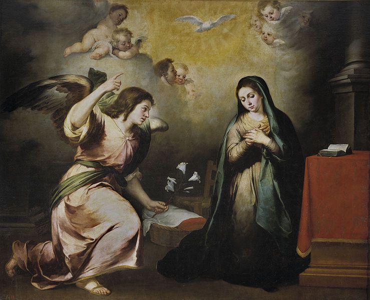 La Anunciación por Bartolomé Esteban Murillo