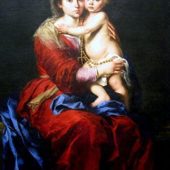 La Virgen del rosario por Bartolomé Esteban Murillo