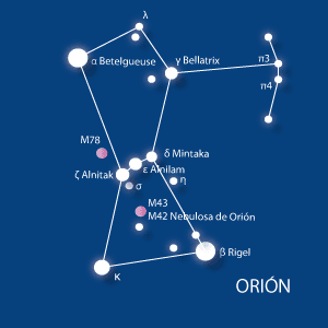 orion, constelación del cazador, rigel, betelgeuse, constelaciones