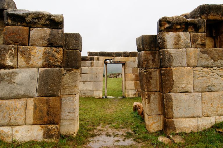 Union is ruins of the incan Huanuco Viejo city in South America