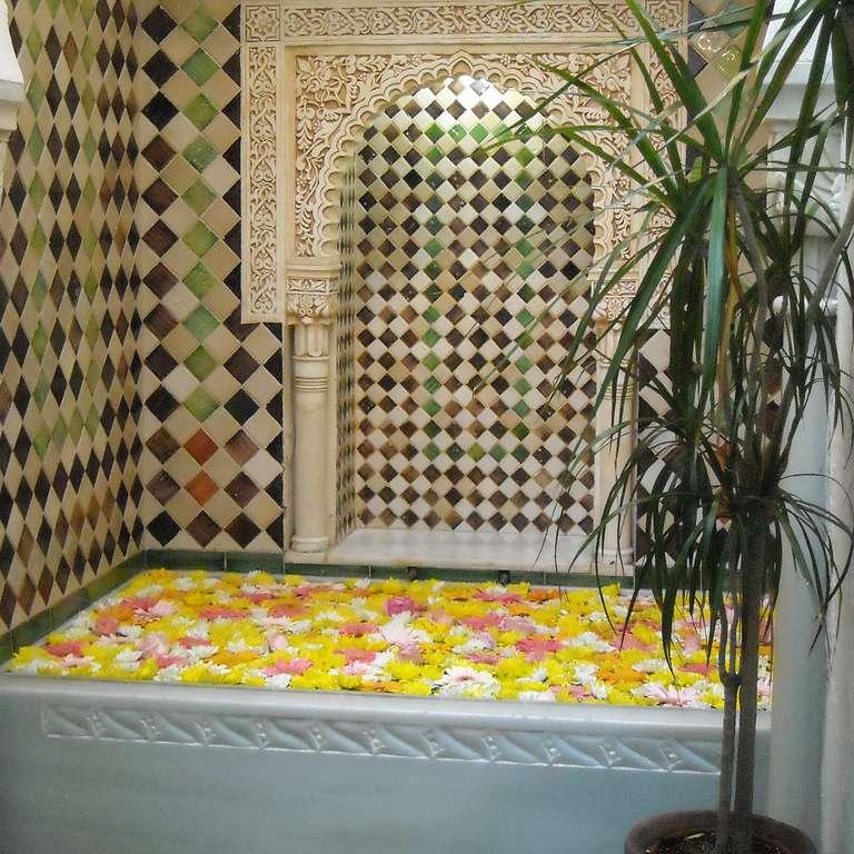 Baño con plantas medicinales