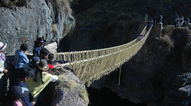 El puente colgante Q'eswachaka