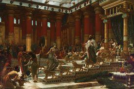 Rey Salomon visitado por la reina Sheba