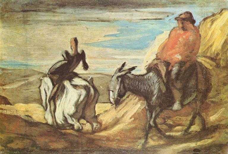 Don quijote pintura de Honore Daumier