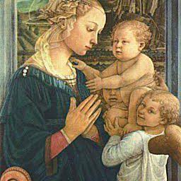 La Virgen y el Niño entre dos ángeles, Filippo Lippi