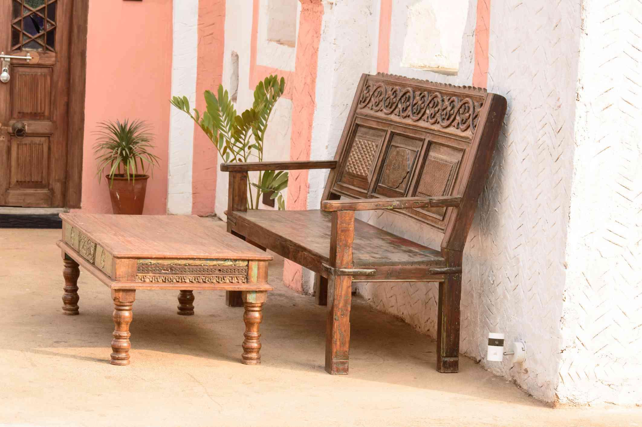 Muebles viejos de madera