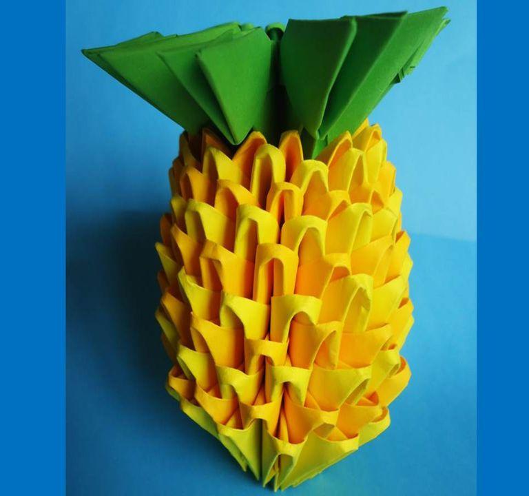 Piña de origami 3D