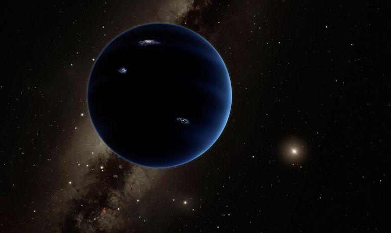 Recreación del hipotético Planeta 9