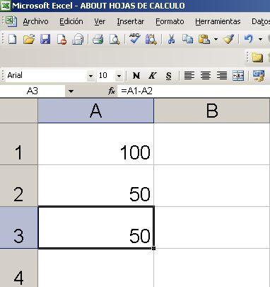 Cómo Hacer Una Resta En Excel