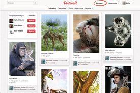Accede la página de Pinterest