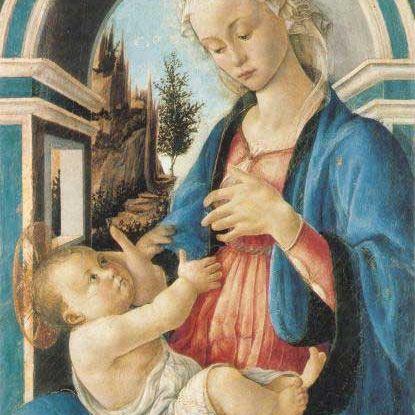 Madonna con bambino de Sandro Botticelli