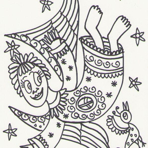Un dibujo de Ángelo Romano para todos los niños, niñas y ángeles de corazón.