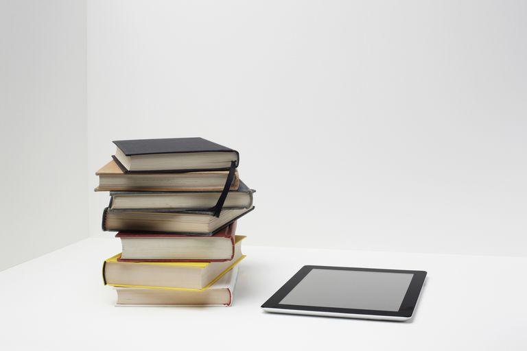 libros con un tablet