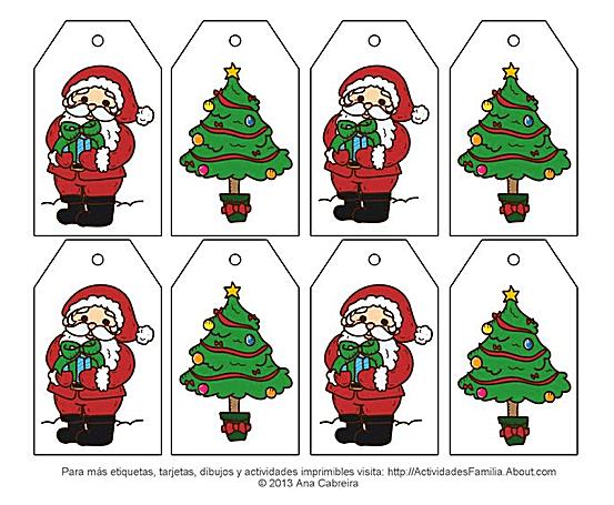 Dibujos De Arboles De Navidad Para Imprimir En Linea: Etiquetas De Navidad Para Imprimir Gratis