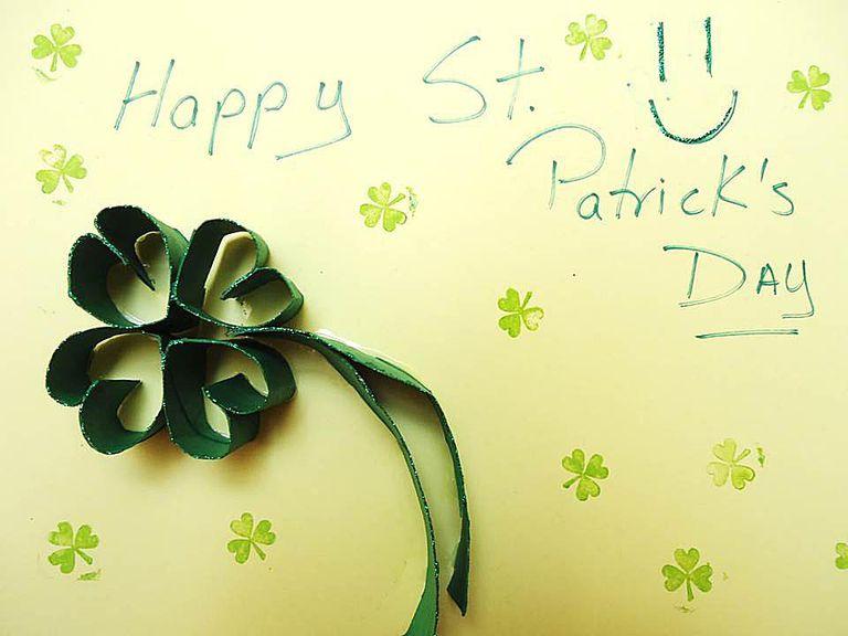 Tarjeta De Trebol Para St Patrick S Day Dia De San Patricio