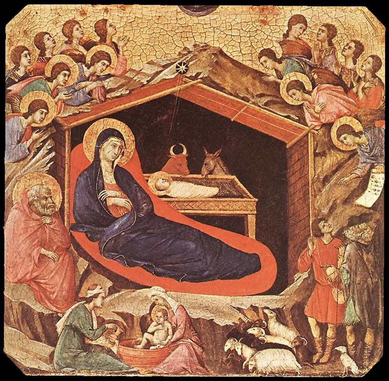 Nacimiento de Jesús de Duccio