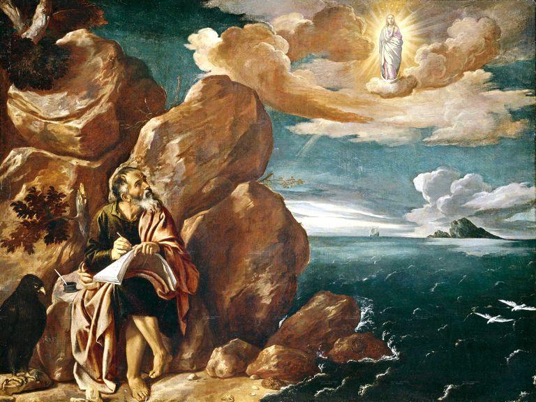 San Juan Evangelista en la isla de Patmos