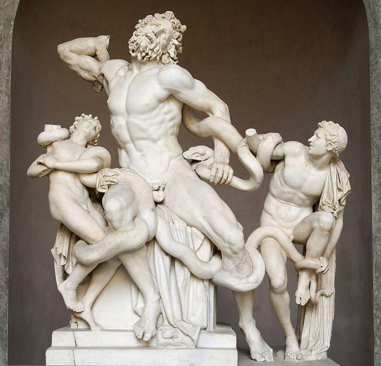 La muerte de Laoconte y sus hijos