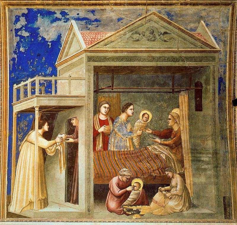 Nacimiento de Jesús de Giotto