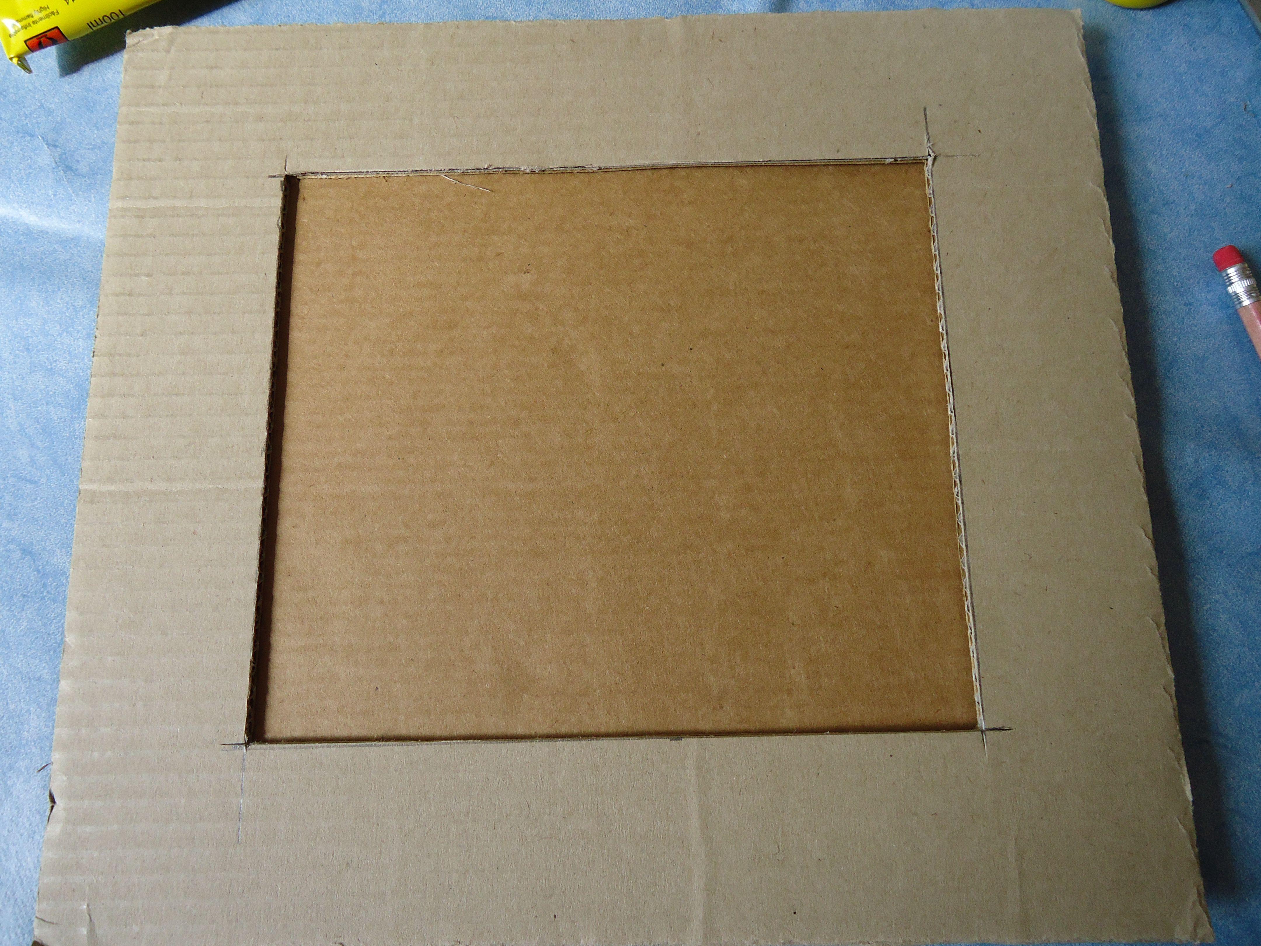 portarretratos de cartón