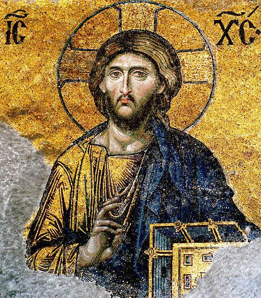 Mosaico de Jesús en la iglesia de Hagia Sophia, Estambul, Turquía (Siglo 6)