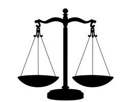 La balanza es símbolo de la justicia.