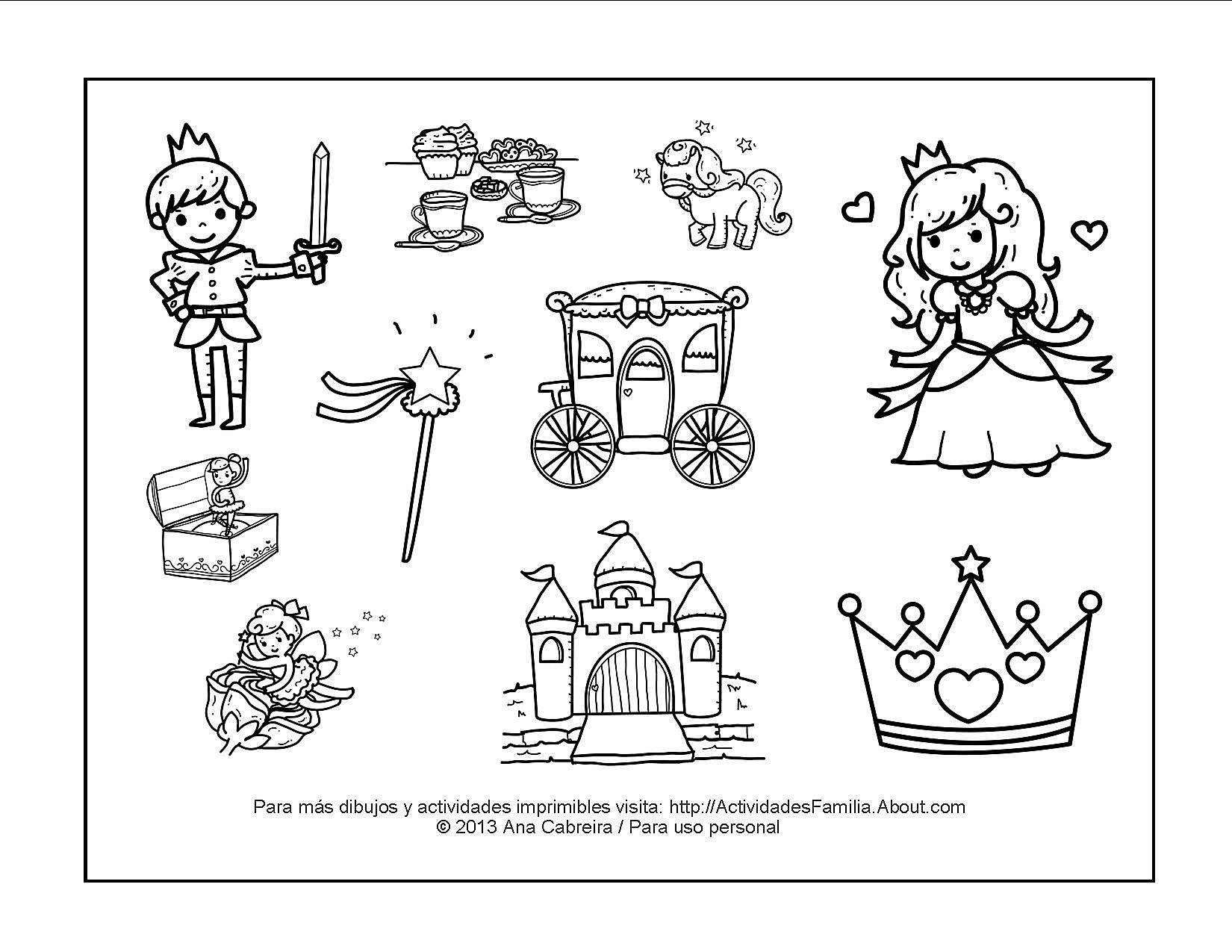 Dibujos Para Colorear No Imprimir: 10 Dibujos De Princesas Para Colorear