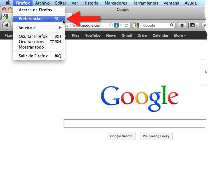 borrar historial en Firefox para Mac