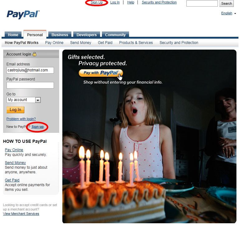 Paypal cuenta 01
